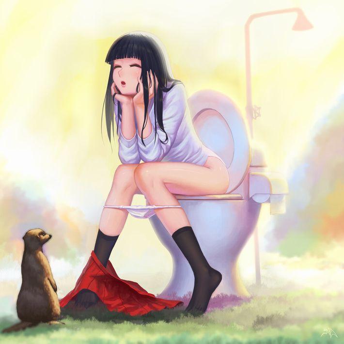 【洋式トイレ】多分大きい方をふんばってる真っ最中な女子達の二次エロ画像【8】