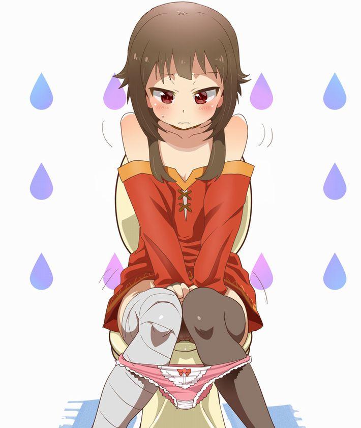 【洋式トイレ】多分大きい方をふんばってる真っ最中な女子達の二次エロ画像【9】