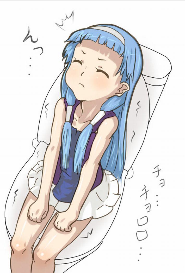 【洋式トイレ】多分大きい方をふんばってる真っ最中な女子達の二次エロ画像【18】