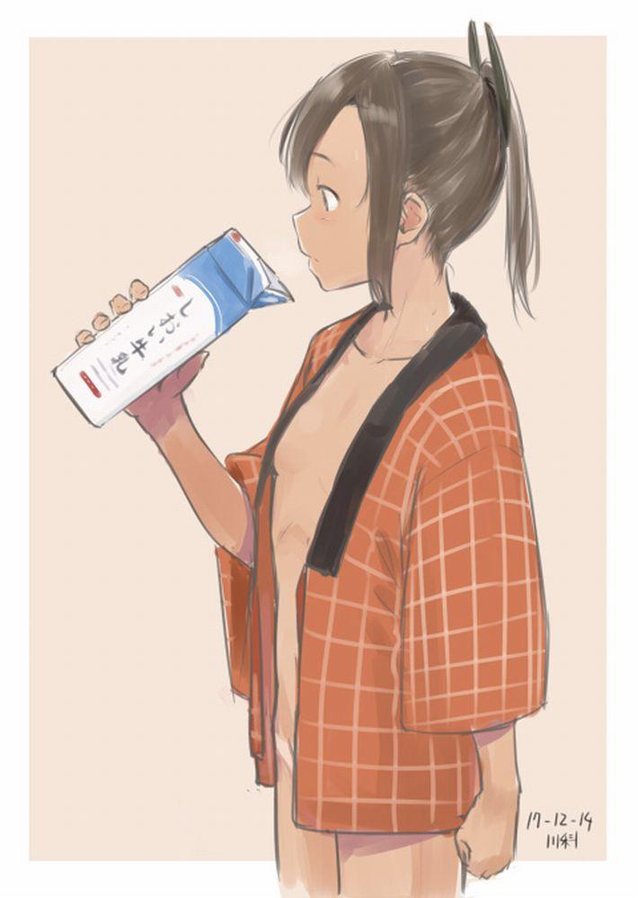 【お行儀が悪い】コップに注がず牛乳をパックから直飲みしてる女子達の二次エロ画像【15】