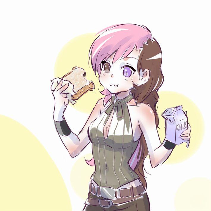 【お行儀が悪い】コップに注がず牛乳をパックから直飲みしてる女子達の二次エロ画像【30】