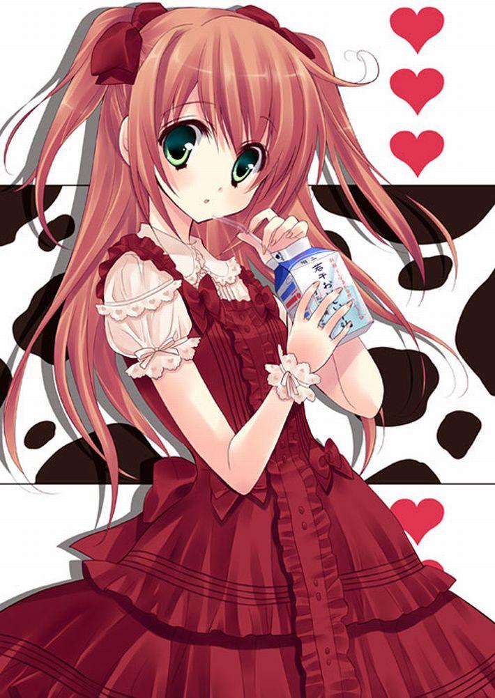【お行儀が悪い】コップに注がず牛乳をパックから直飲みしてる女子達の二次エロ画像【49】