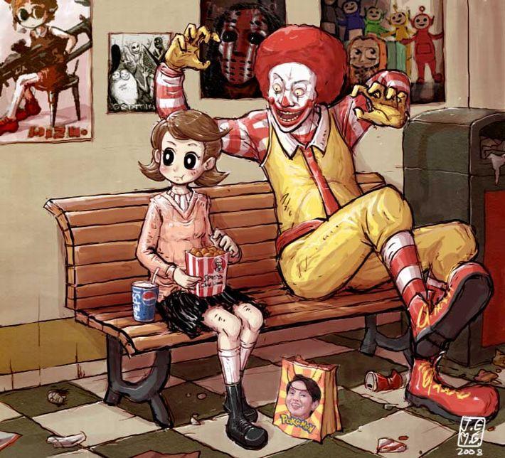 【女体化有り】マクドナルドのイメージキャラクター・ドナルドの二次エロ画像【3】