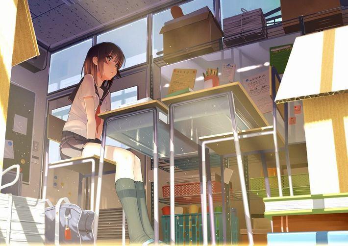 【生々しい】女子高生の日常って雰囲気の微エロな二次エロ画像【26】