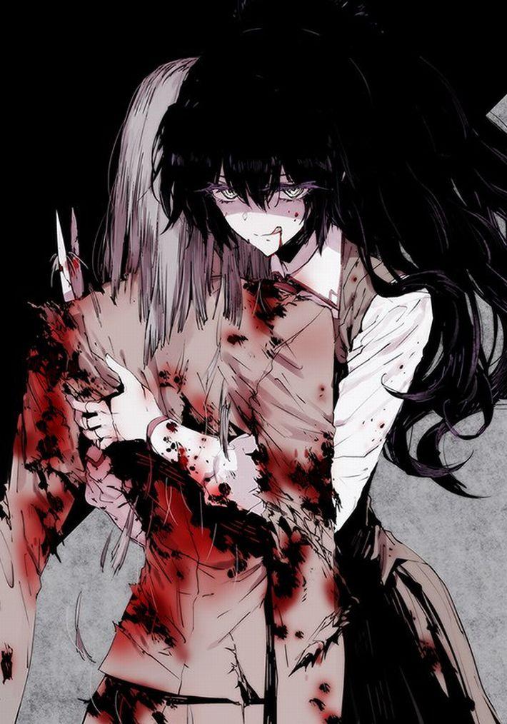 【猟奇的な彼女】女の子が人を殺めている二次逆リョナ画像【5】