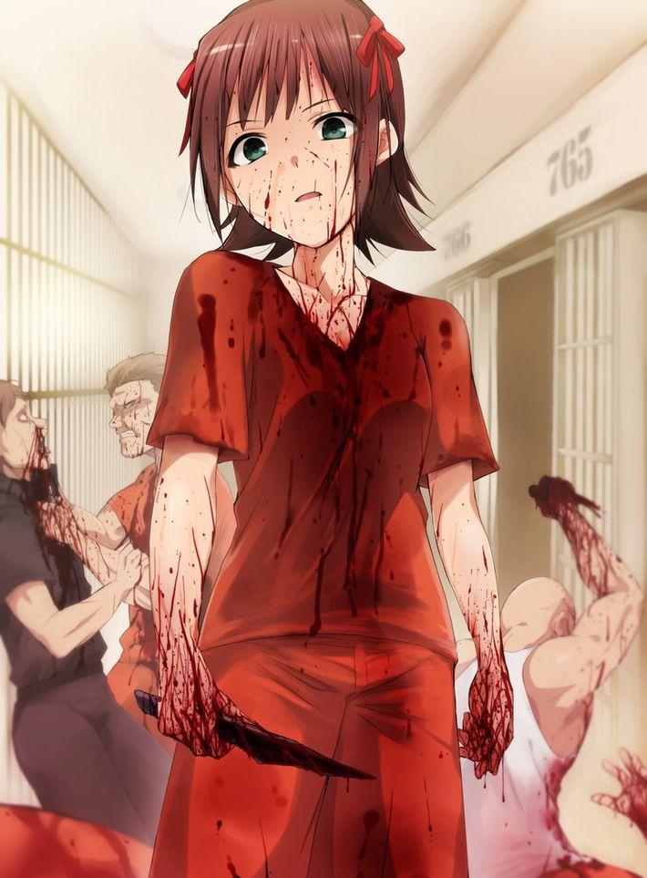 【猟奇的な彼女】女の子が人を殺めている二次逆リョナ画像【6】