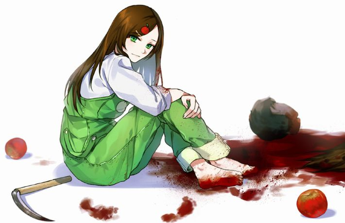 【猟奇的な彼女】女の子が人を殺めている二次逆リョナ画像【7】