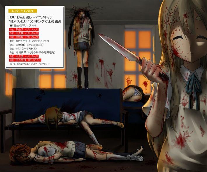 【猟奇的な彼女】女の子が人を殺めている二次逆リョナ画像【10】