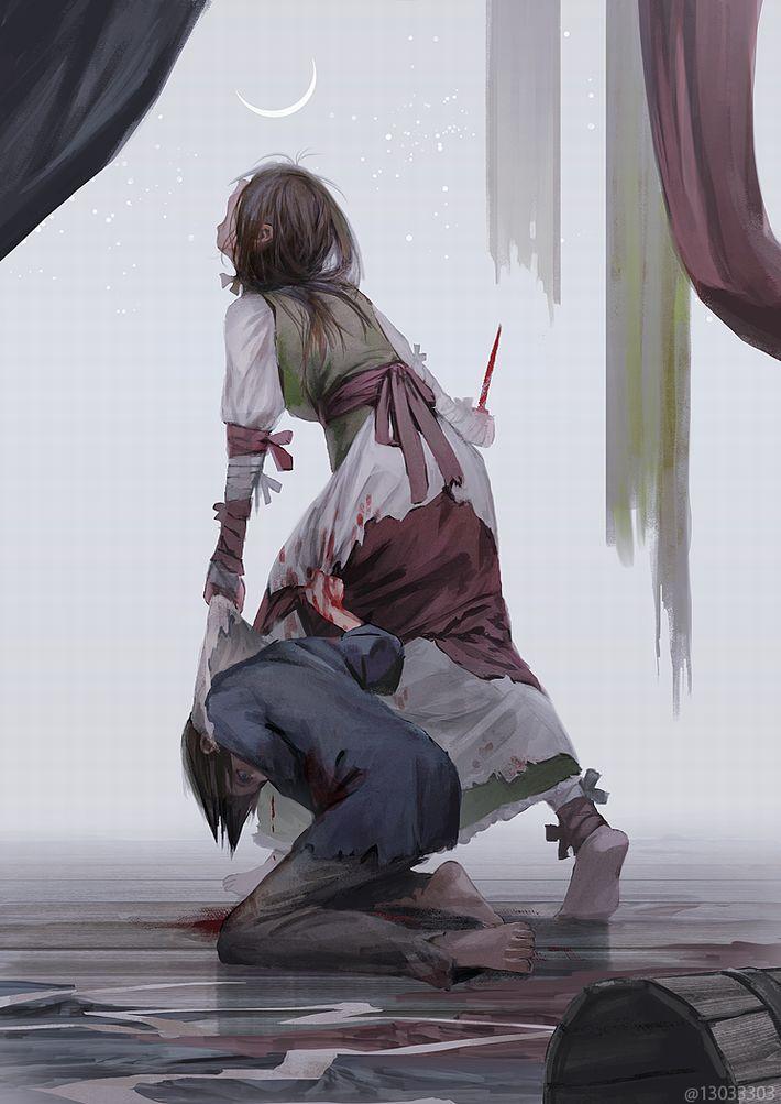 【猟奇的な彼女】女の子が人を殺めている二次逆リョナ画像【11】