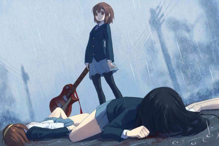 【猟奇的な彼女】女の子が人を殺めている二次逆リョナ画像【13】