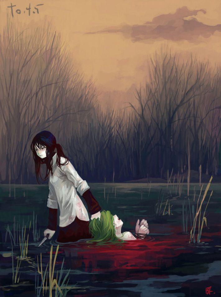 【猟奇的な彼女】女の子が人を殺めている二次逆リョナ画像【17】