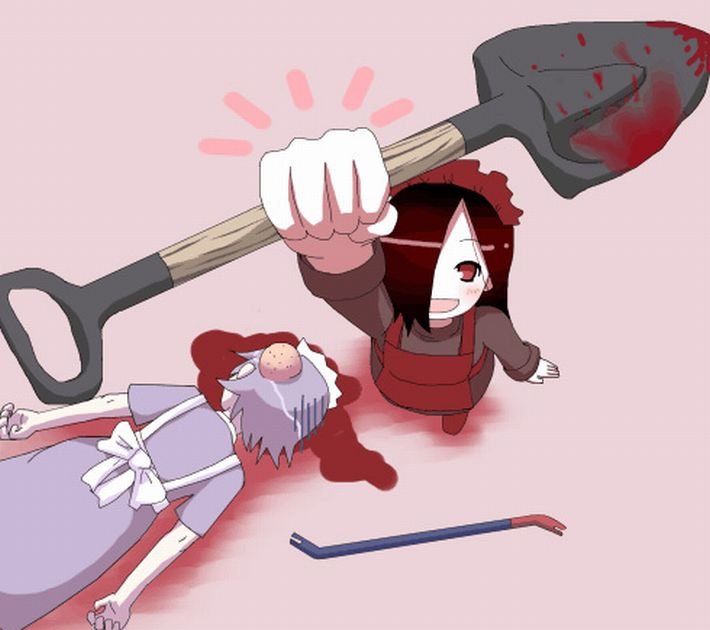 【猟奇的な彼女】女の子が人を殺めている二次逆リョナ画像【22】