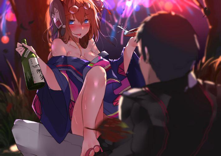 【酒に飲まれた】完全に酔っ払ってる女の子達の二次エロ画像【30】
