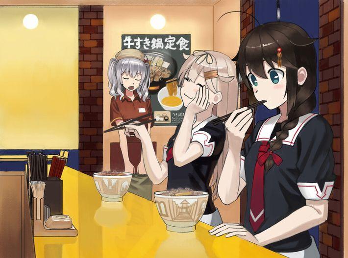 【エンペラー牛丼は】牛丼食べてる女の子達の二次画像【有りません】像【21】