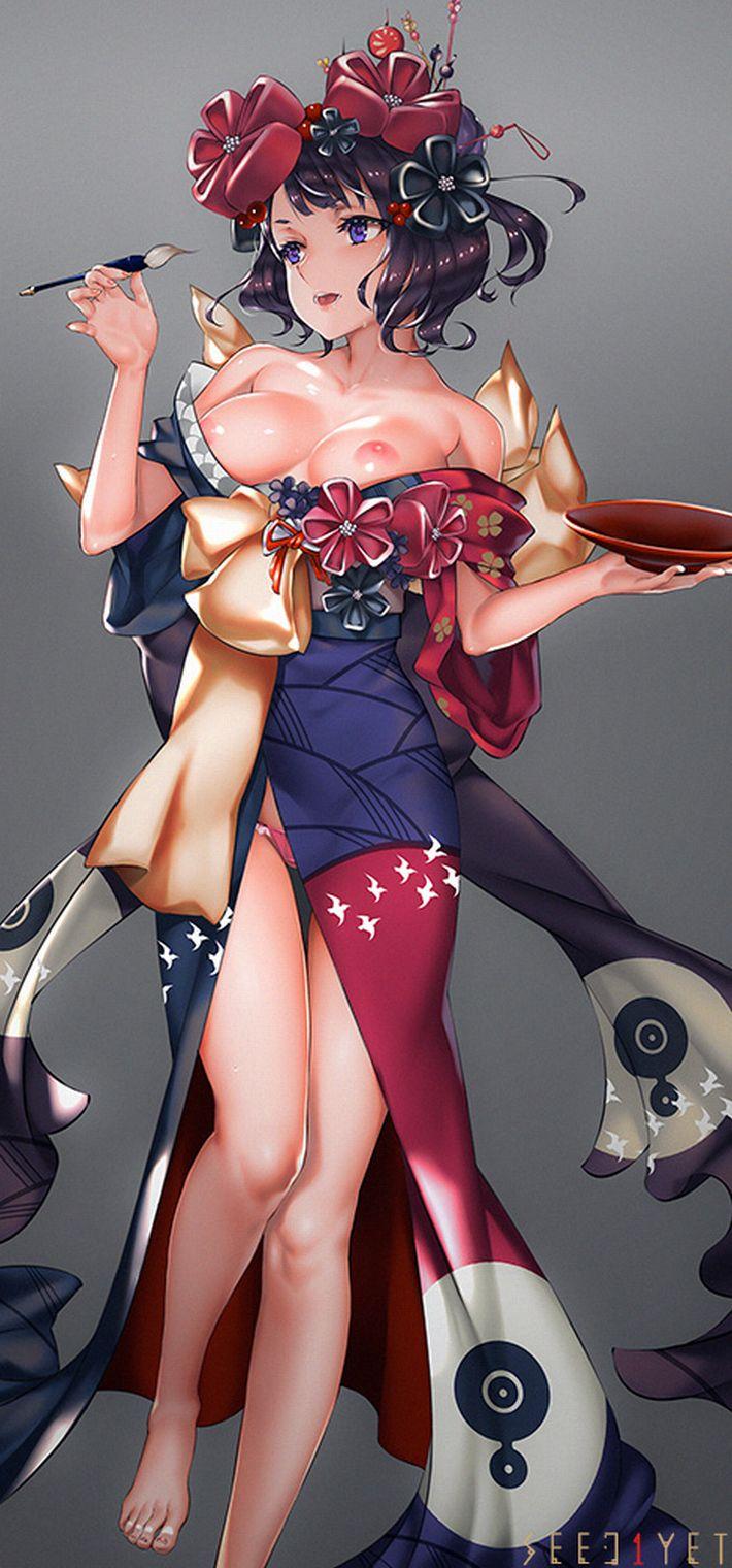 【Fate/GrandOrder】葛飾北斎(かつしかほくさい)のエロ画像【2】