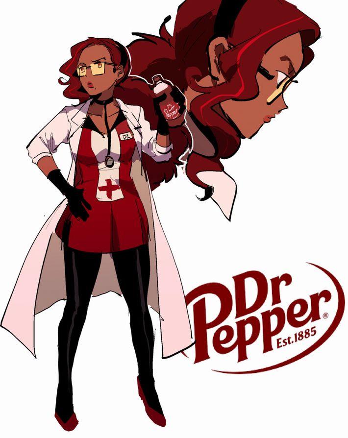 【知的飲料】ドクターペッパー(Dr. Pepper)と女の子の二次画像【31】