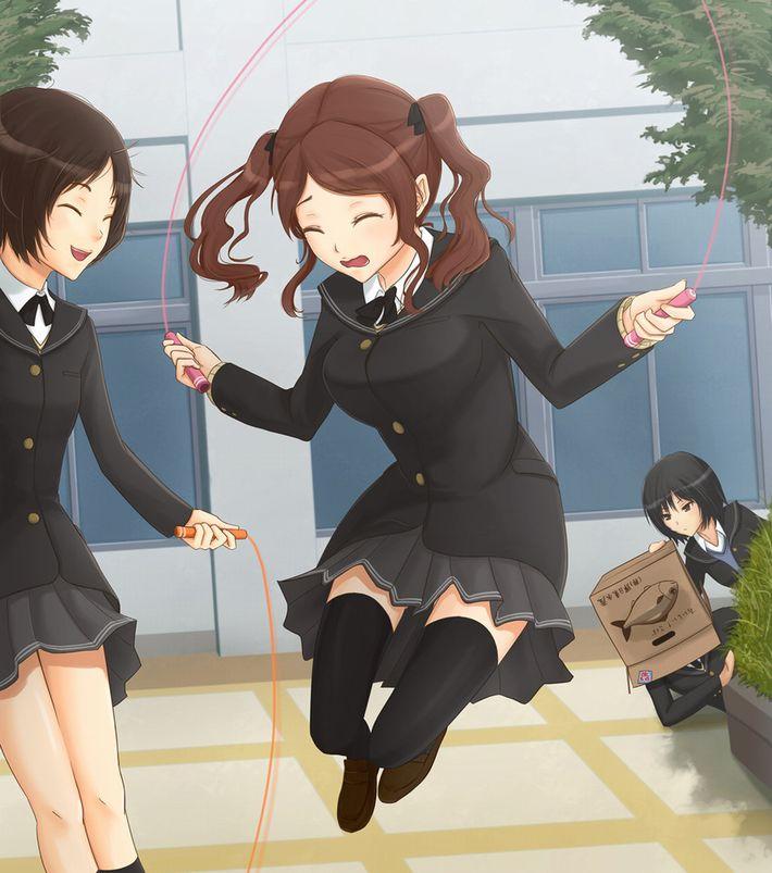 【ダイエットかな?】縄跳びしてる女の子たちの二次エロ画像【6】