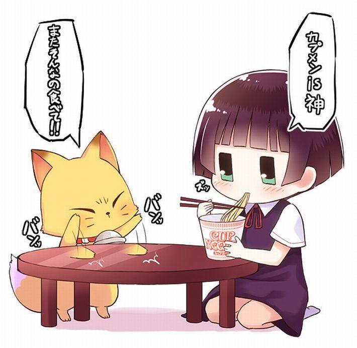 【王道を往く】カップヌードルを食べてる女の子達のエロ画像【3】