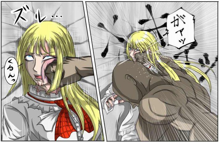 【えいえい】グーパンチでぶん殴られてる女子達の二次リョナ画像【おこった?】【19】