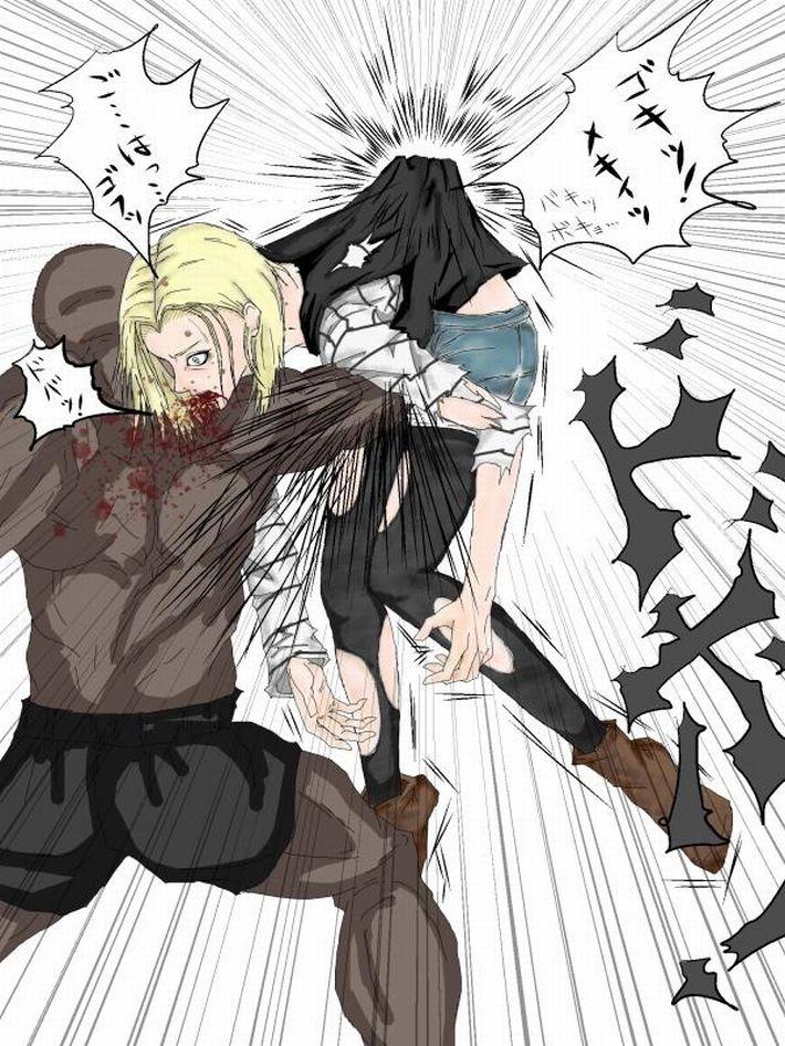 【えいえい】グーパンチでぶん殴られてる女子達の二次リョナ画像【おこった?】【23】