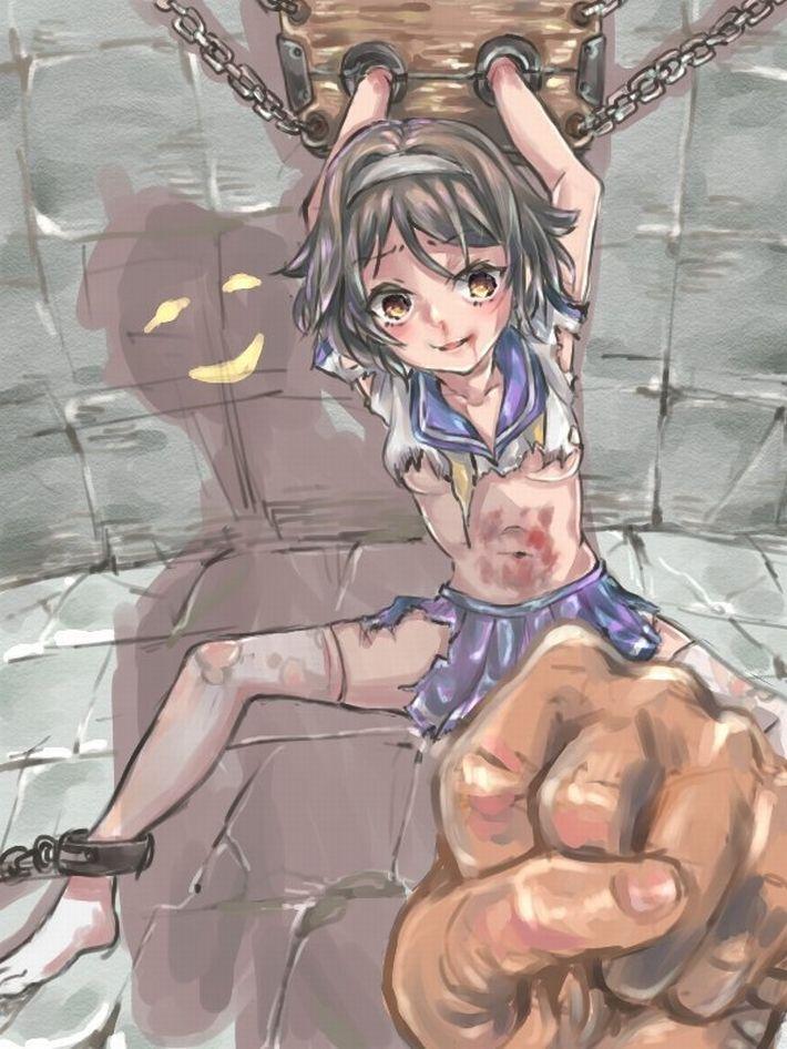 【えいえい】グーパンチでぶん殴られてる女子達の二次リョナ画像【おこった?】【28】