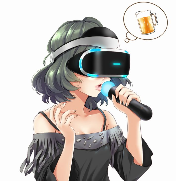 【CAPTURED】VRゴーグルを装着した女子達の二次エロ画像【EMURATED】【31】