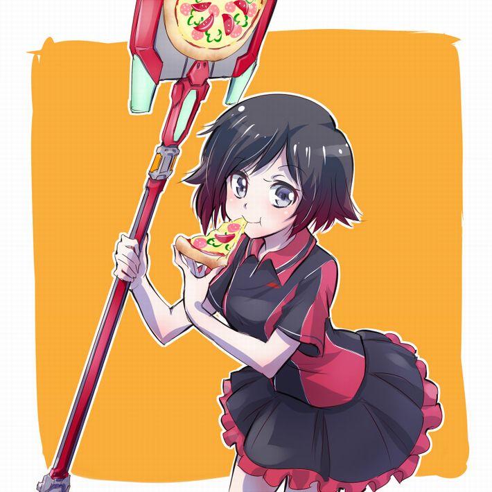 【ピザハット半額は】ピザ食ってる女の子の二次画像【2/8まで】【27】