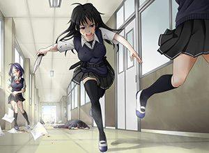 【猟奇的な彼女】女の子が人を殺めている二次逆リョナ画像