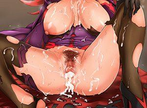 【もんじゃ】アナル中出しされ尻の穴からザーメンを垂れ流してる二次エロ画像【食べよ】