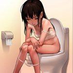 【洋式トイレ】多分大きい方をふんばってる真っ最中な女子達の二次エロ画像