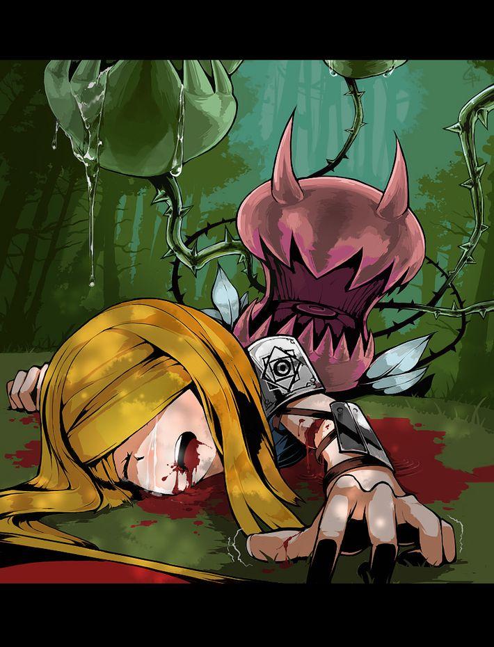 【病だったり】吐血してる美少女の二次エロ画像【怪我だったり】【11】