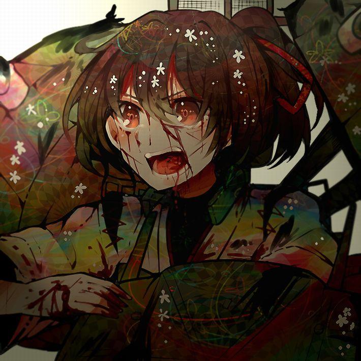 【病だったり】吐血してる美少女の二次エロ画像【怪我だったり】【30】