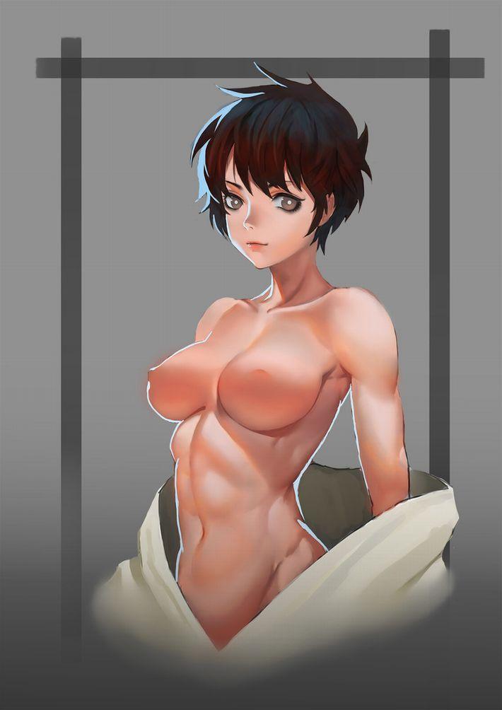 【腹筋マシーンのお陰】綺麗に割れた腹筋を持つ女子達の二次エロ画像【OMG】【1】