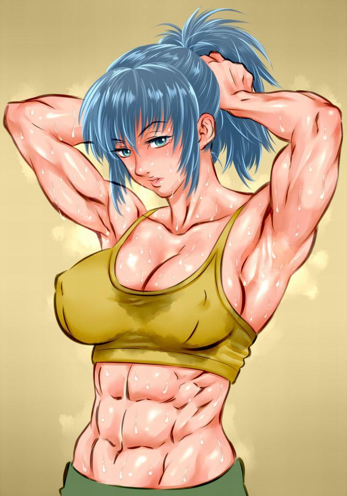 【腹筋マシーンのお陰】綺麗に割れた腹筋を持つ女子達の二次エロ画像【OMG】【2】