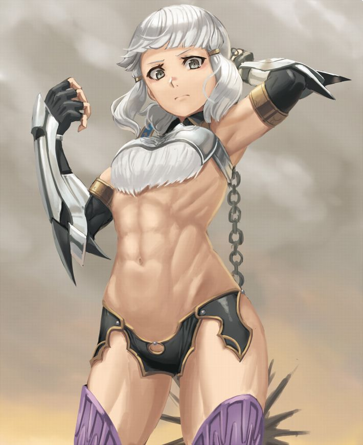 【腹筋マシーンのお陰】綺麗に割れた腹筋を持つ女子達の二次エロ画像【OMG】【23】