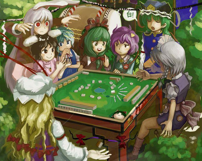 【咲のキャラは居ません】麻雀してる女子達の二次エロ画像【3】