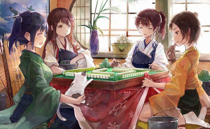 【咲のキャラは居ません】麻雀してる女子達の二次エロ画像【26】