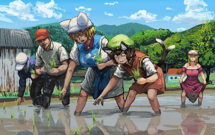 【課外授業】農作業に従事する女子達の二次エロ画像【12】