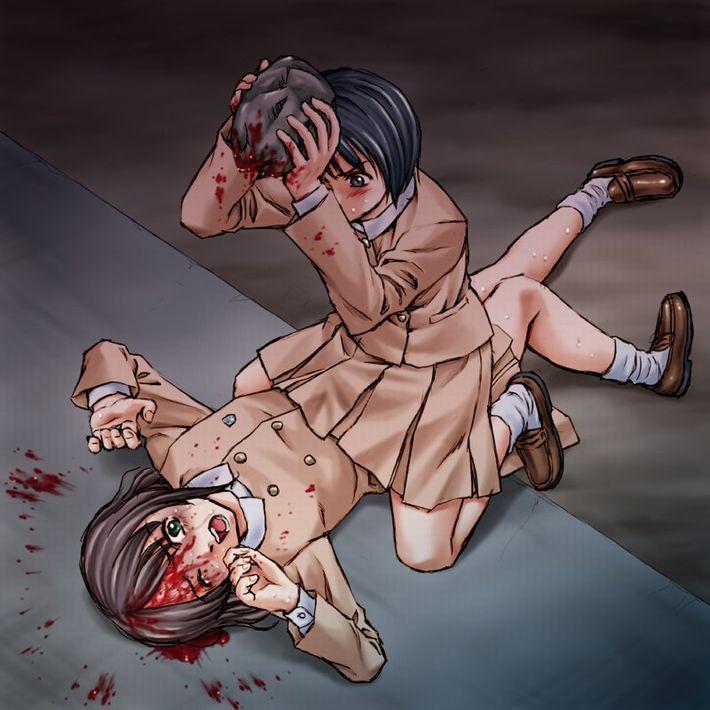 【多分死ぬ】凶器を使用したリンチ受けてる女の子の二次リョナ画像【17】