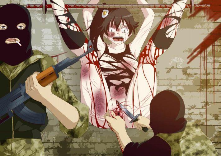 【多分死ぬ】凶器を使用したリンチ受けてる女の子の二次リョナ画像【23】