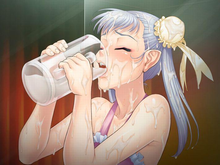 【イッキ!イッキ!】ビールジョッキ等に溜まったザーメン飲んでる女子の二次エロ画像【22】