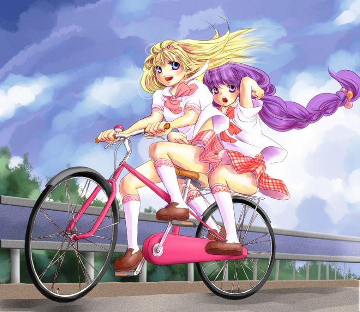 【バイセコー】自転車パンチラの二次エロ画像【27】