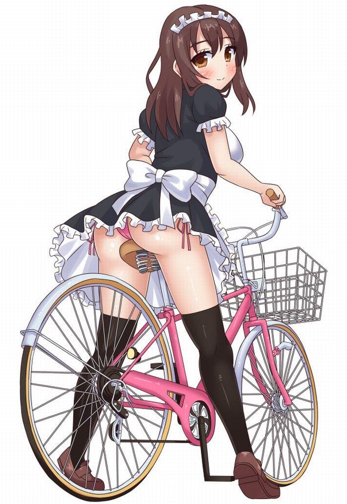【バイセコー】自転車パンチラの二次エロ画像【29】