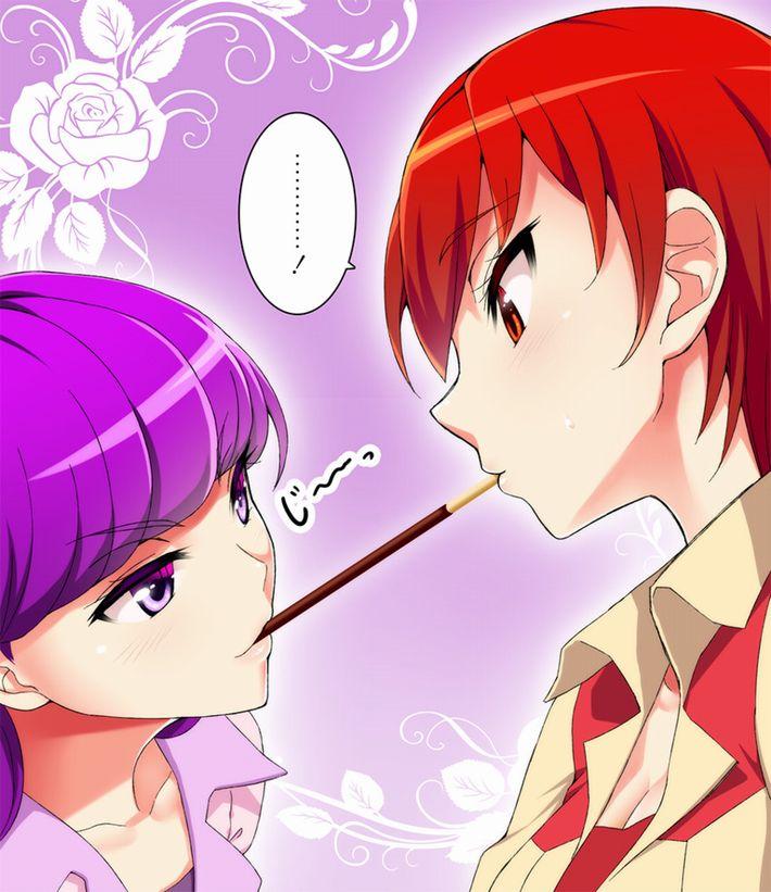 【微エロ】女の子同士でポッキーゲームしてる二次画像【6】