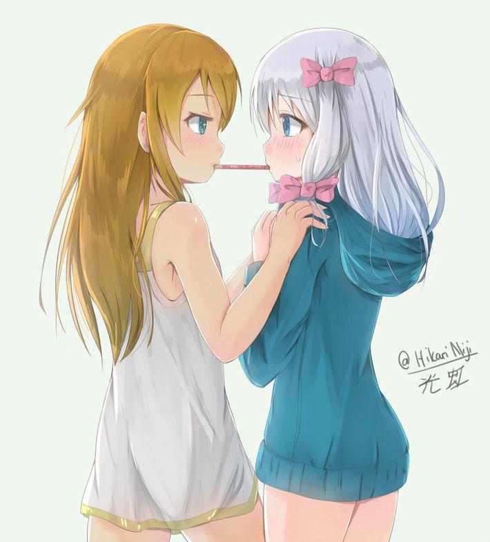 【微エロ】女の子同士でポッキーゲームしてる二次画像【14】