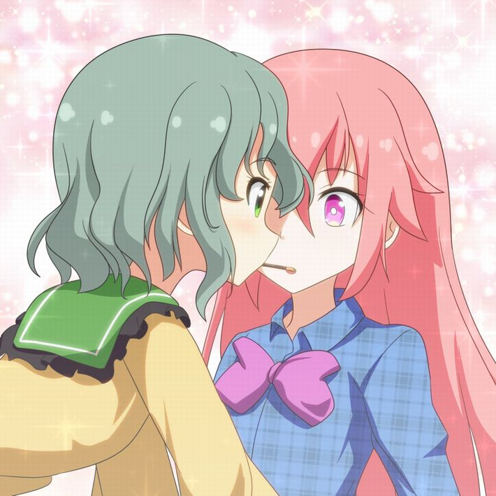 【微エロ】女の子同士でポッキーゲームしてる二次画像【21】