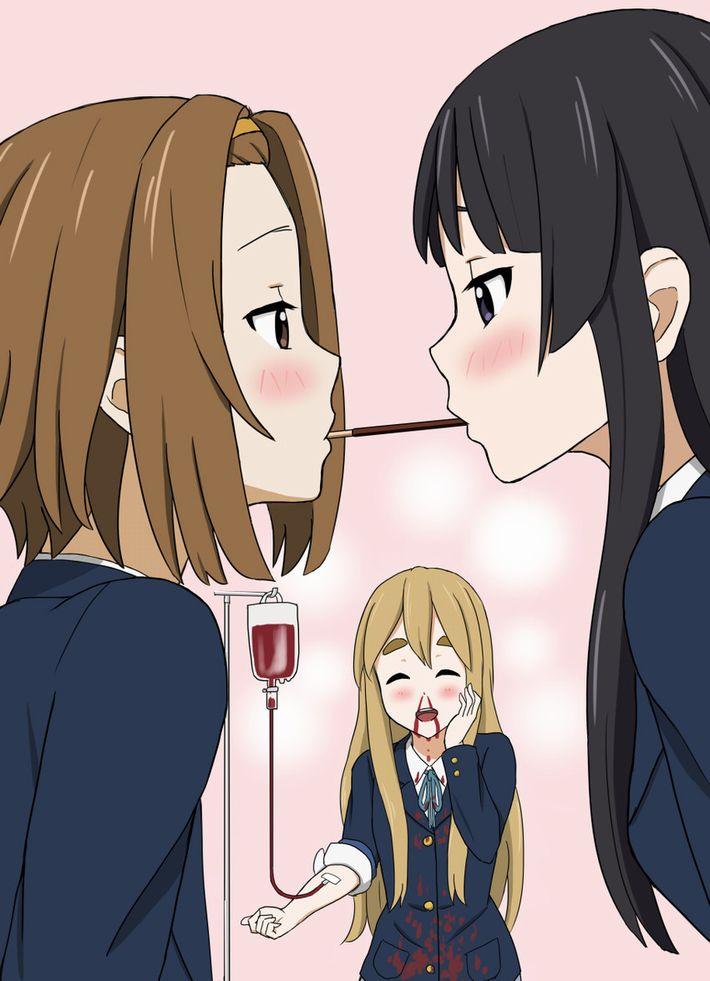 【微エロ】女の子同士でポッキーゲームしてる二次画像【25】