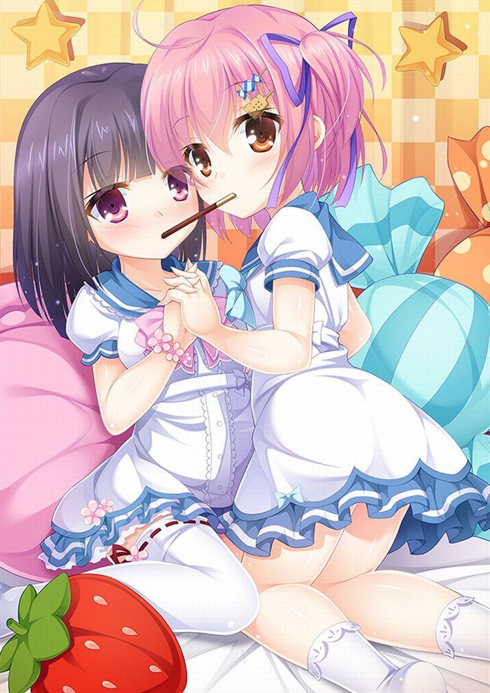 【微エロ】女の子同士でポッキーゲームしてる二次画像【28】