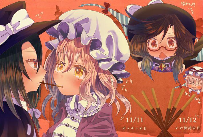 【微エロ】女の子同士でポッキーゲームしてる二次画像【32】