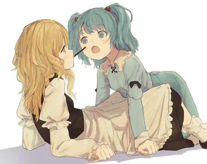 【微エロ】女の子同士でポッキーゲームしてる二次画像【37】